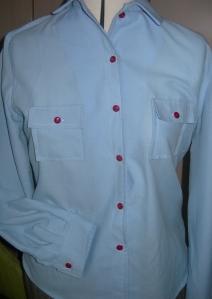 handmade skirt and red button shirt 006