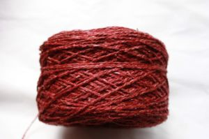 red silk wool